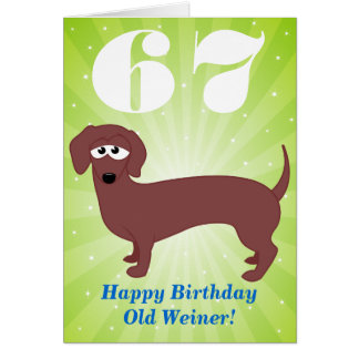 Tarjeta Feliz cumpleaños viejo Weiner