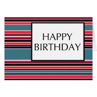 Tarjeta feliz cumpleaños (wineStripes)