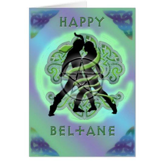 Tarjeta feliz de Beltane