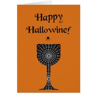 Tarjeta feliz de Hallowine Halloween