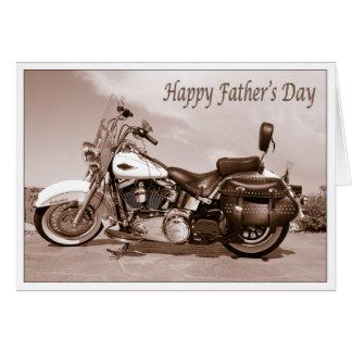 Tarjeta feliz de Harley Davidson del día de padre