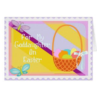 Tarjeta feliz de la ahijada de Pascua
