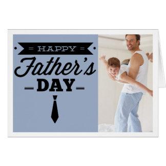 Tarjeta feliz de la foto del día de padre - tipogr