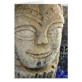 Tarjeta feliz de la fuente de la cara (v)