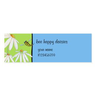 Tarjeta feliz de la pequeña empresa de las margari tarjetas de visita mini