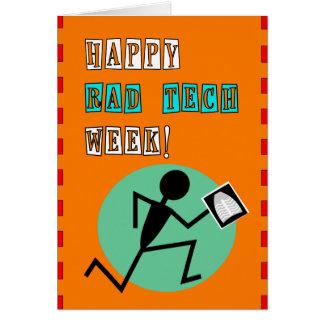 Tarjeta feliz de la semana de la tecnología de la
