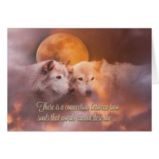 Tarjeta feliz de los lobos del Soulmate del