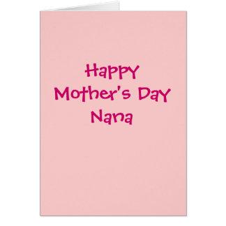 Tarjeta feliz de Nana del día de madre