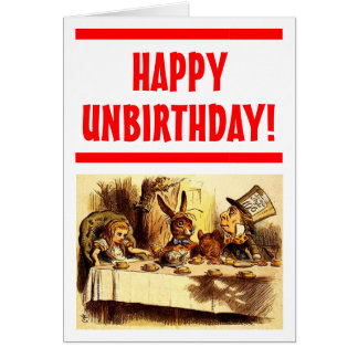 Tarjeta feliz de Unbirthday