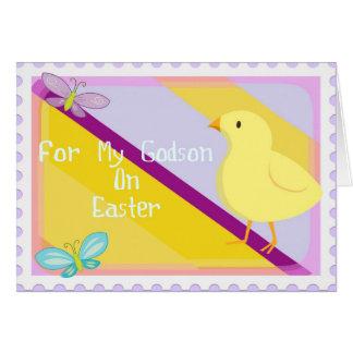 Tarjeta feliz del ahijado de Pascua