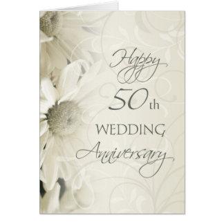 Tarjeta feliz del aniversario de boda de las flore