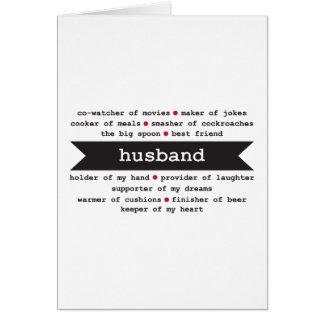 tarjeta feliz del aniversario del marido