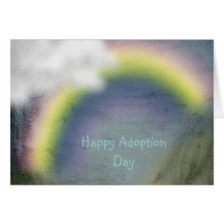 tarjeta feliz del día de la adopción