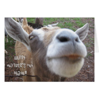 Tarjeta feliz del día de la madre de la cabra
