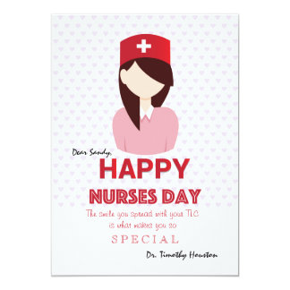 Tarjeta feliz del día de las enfermeras invitación 12,7 x 17,8 cm