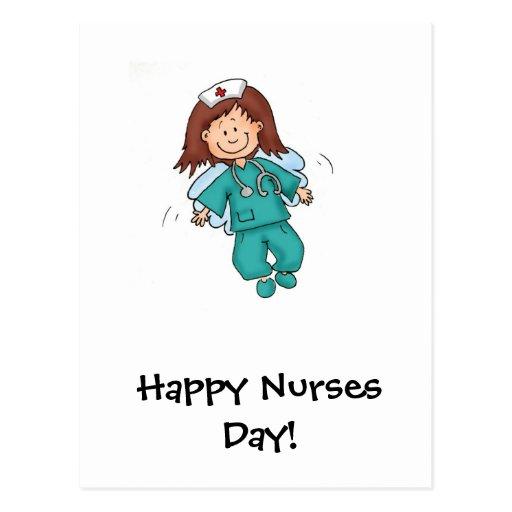 Tarjeta feliz del día de las enfermeras tarjetas postales | Zazzle