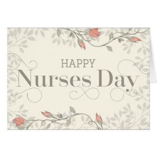 Tarjeta feliz del día de las enfermeras - texto y