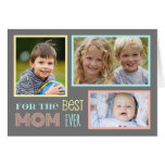 Tarjeta feliz del día de madre de la foto de encar