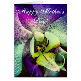Tarjeta feliz del día de madre de la orquídea de P