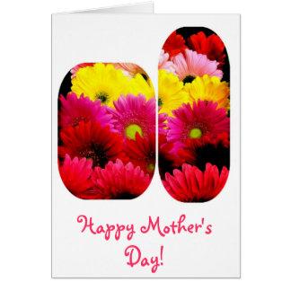 Tarjeta feliz del día de madre de las margaritas v