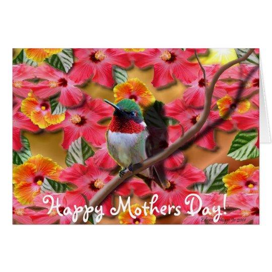 Tarjeta feliz del día de madres del asilo del
