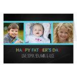 Tarjeta feliz del día de padre de la foto de la pi