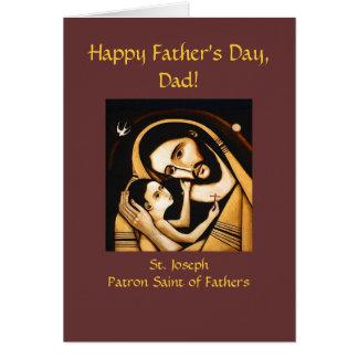 Tarjeta feliz del día de padre de San José