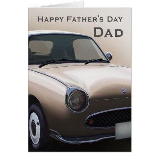 Tarjeta feliz del día de padre del coche de Figaro
