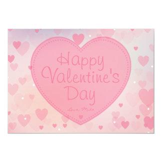 Tarjeta feliz del el día de San Valentín de los Invitación 12,7 X 17,8 Cm