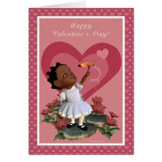Tarjeta feliz del el día de San Valentín del chica