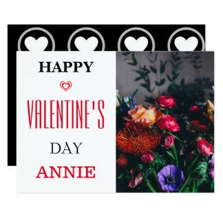 Tarjeta feliz del el día de San Valentín Invitación 12,7 X 17,8 Cm