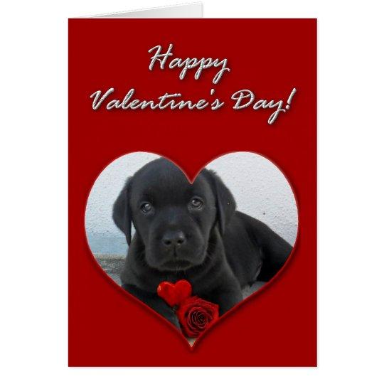 Tarjeta feliz del perrito de Labrador del el día