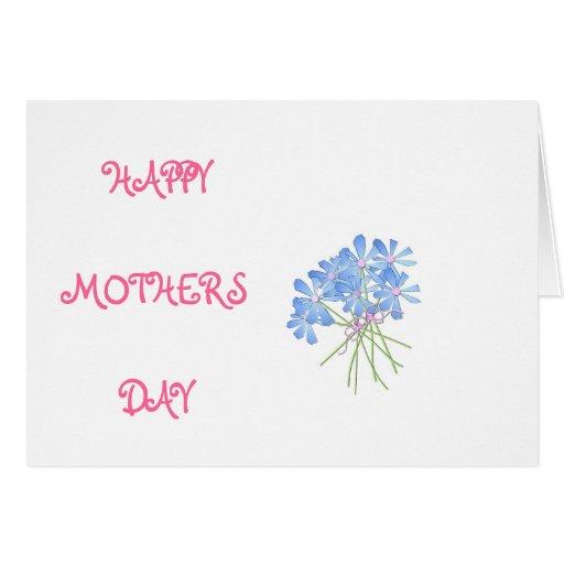 Tarjeta feliz del tulipán del día de madres