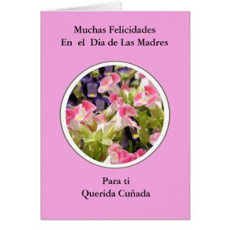 Tarjeta Feliz Dia de Las Madres Cuñada