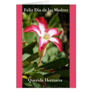Tarjeta Feliz Dia de las Madres Querida Hermana