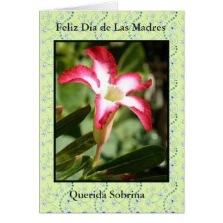 Tarjeta Feliz Dia de las Madres Sobrina