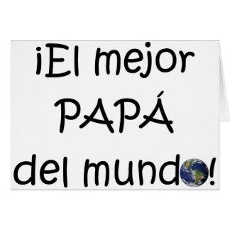 Tarjeta ¡¡Feliz día del padre - mejor del EL de para!