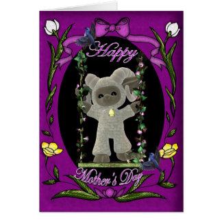Tarjeta feliz linda del día de Mother s con las ov