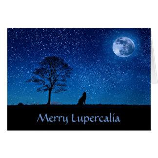 Tarjeta Feliz Lupercalia (lobo)