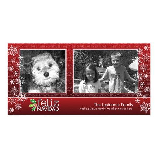 Tarjeta Feliz Navidad - collage de 2 fotos