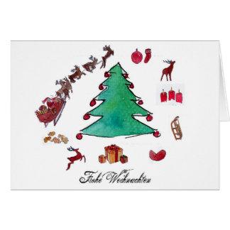 Tarjeta Feliz Navidad con abeto