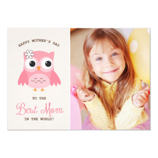 Tarjeta feliz rosada linda del día de madre del