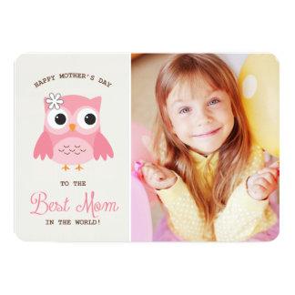 Tarjeta feliz rosada linda del día de madre del anuncio personalizado