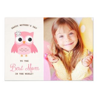 Tarjeta feliz rosada linda del día de madre del invitación 12,7 x 17,8 cm