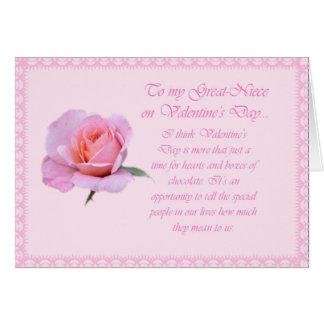 Tarjeta feliz rosada preciosa de la Grande-Sobrina