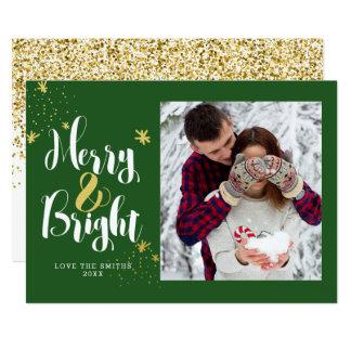 Tarjeta feliz y brillante de la foto del brillo invitación 12,7 x 17,8 cm