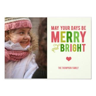 Tarjeta feliz y brillante de la foto del día de invitación 12,7 x 17,8 cm