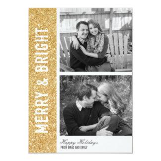 Tarjeta feliz y brillante del brillo invitación 12,7 x 17,8 cm