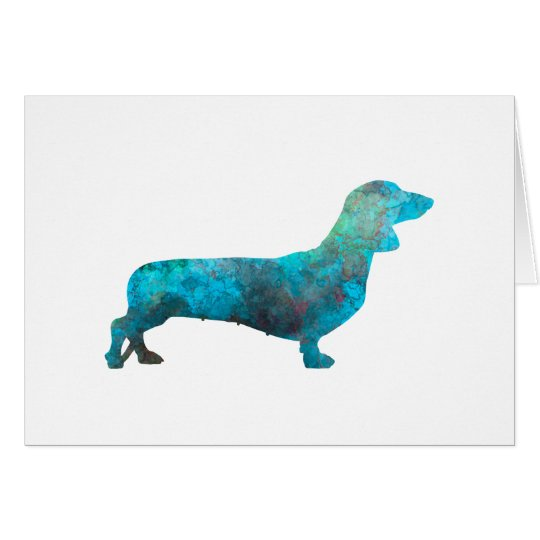 Tarjeta Female Dachshund in watercolor