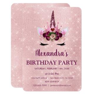 Tarjeta Femenino se ruboriza la fiesta de cumpleaños